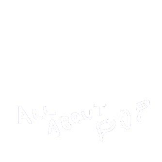 ALL ABOUT POP 池田手書き 白
